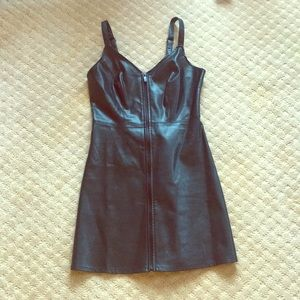 Urban Outfitters Faux Leather Mini Dress